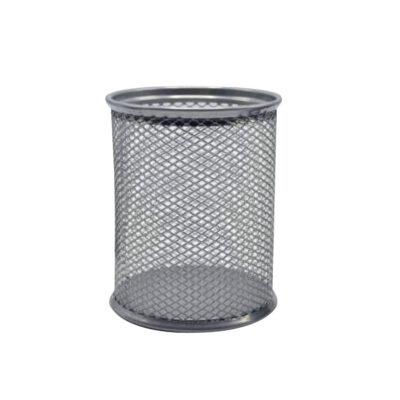 Cubilete Metálico de rejilla Plata CU317382