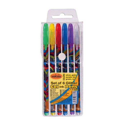 Estuche 6 Bolígrafos Gel Glitter SE83885