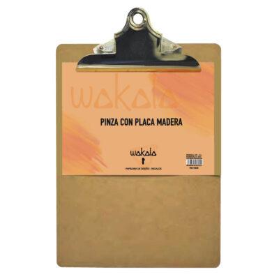 Pinza con Placa Madera A4 PI317809