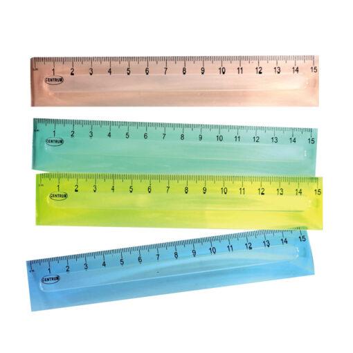 Regla plástico 15cm 4 colores RE80725-1