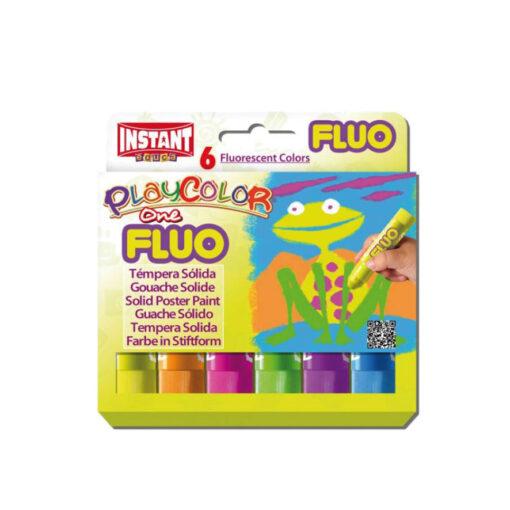 Tempera sólida PlayColor One Fluo TE10431