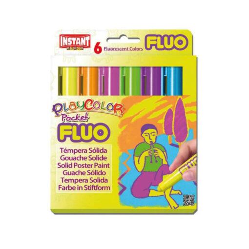 Tempera sólida PlayColor Pocket Fluo TE10421