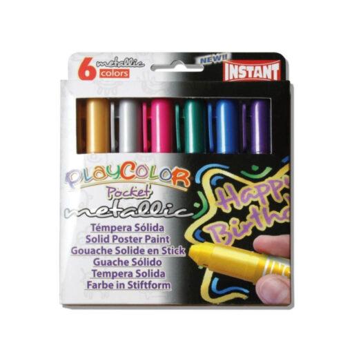Tempera sólida PlayColor Pocket Metallic TE10351
