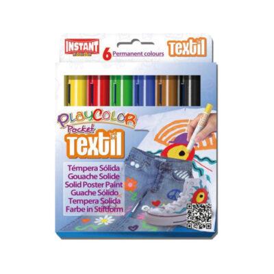 Tempera sólida PlayColor Pocket Textil TE10501