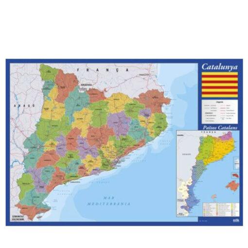 Vade Sobremesa Catalán Mapa Cataluña VA256