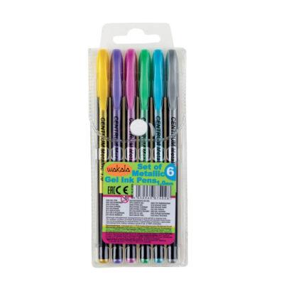 Estuche 6 Bolígrafos Metalico SE87402