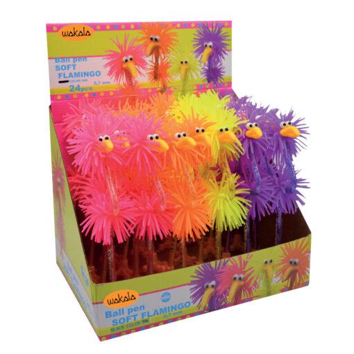 Bolígrafos Flamingo goma BO88065