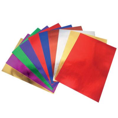 Papel Adhesivo Metalizado 10 Hojas PA88088
