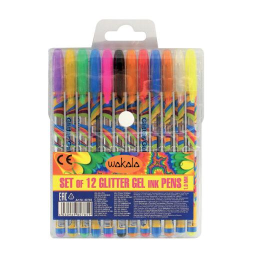 Estuche 12 Bolígrafos Gel Glitter SE80785