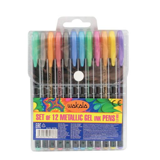 Estuche 12 Bolígrafos Metálico SE80786