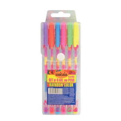 Estuche 6 Bolígrafos Rainbow SE80727