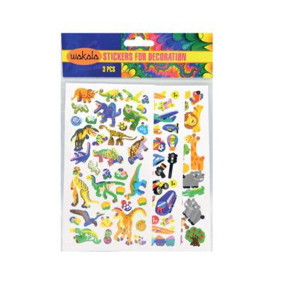Blíster stickers 3 Hojas ET80495