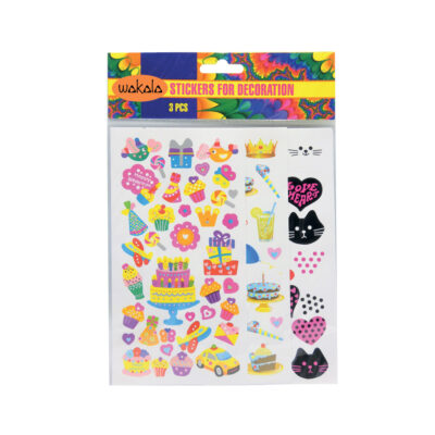 Blíster stickers 3 Hojas ET80496