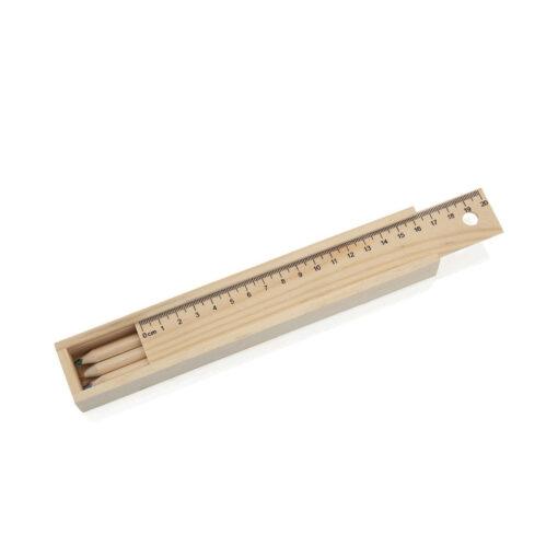 Caja madera con lápices LA18