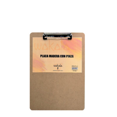 Placa madera con pinza PI72804