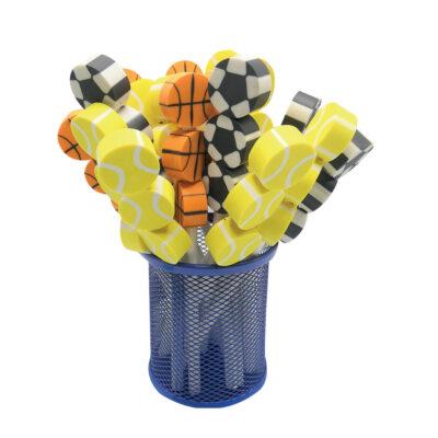 Lápiz con goma pelotas deporte LA12