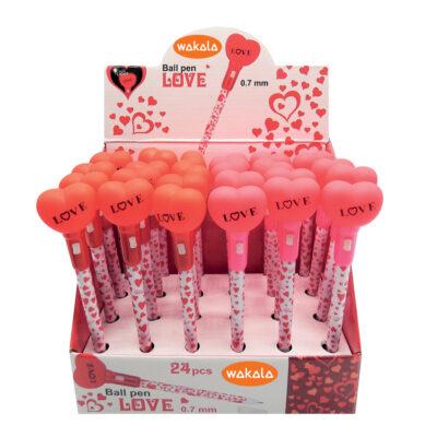 Bolígrafos corazones BO80621