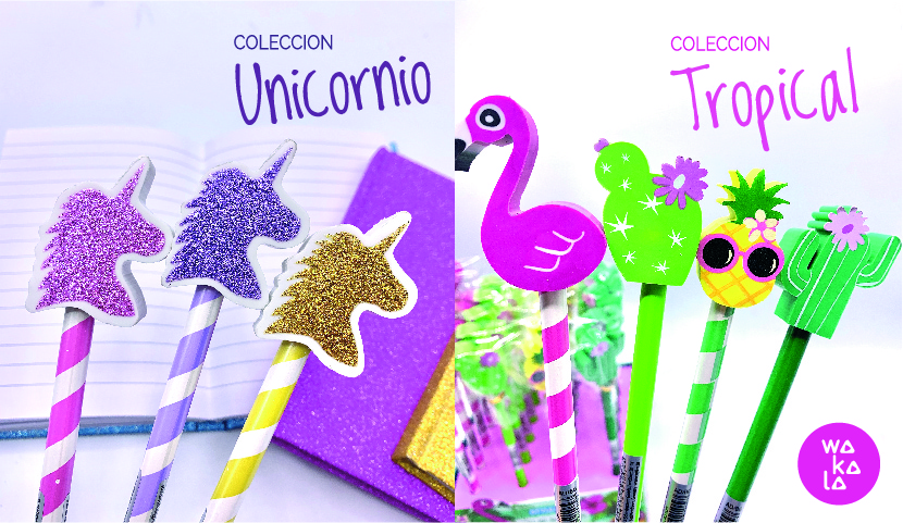 LAPICES TROPICAL Y UNICORNIO