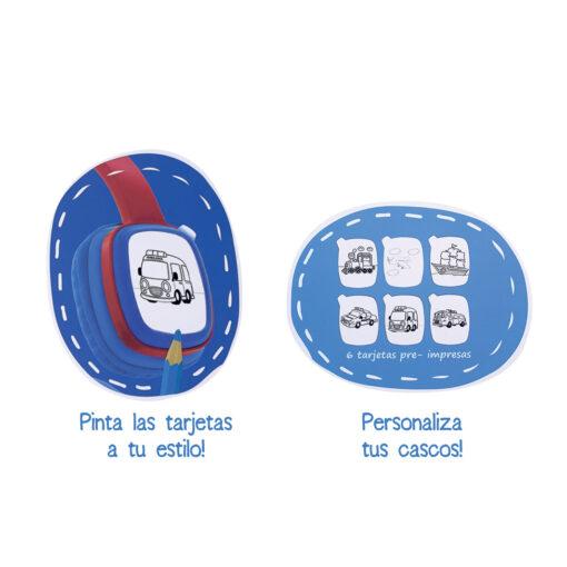 Auriculares Infantil Azul AU157-2