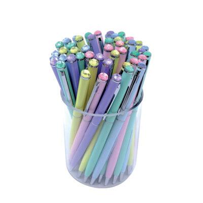 Bolígrafos Pastel cristal BO911