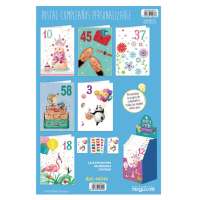 Postal cumpleaños personalizables PO44344