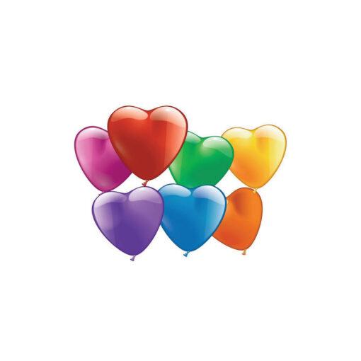 Blister 10 globos corazones GL14761-1
