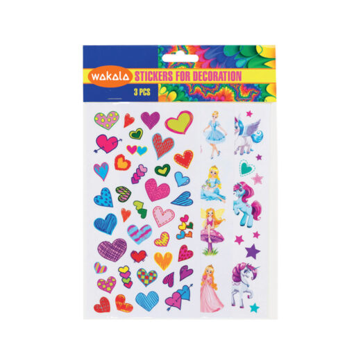 Blister Stickers 3 hojas ET80732