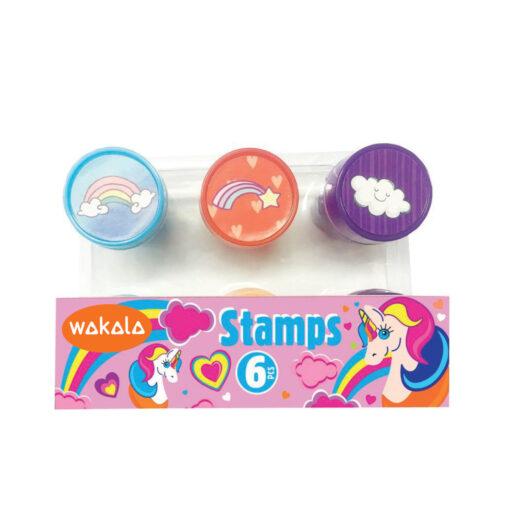 Set 6 sellos unicornio SE80394