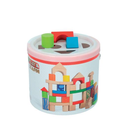 Cubo bloques madera JU40994-1
