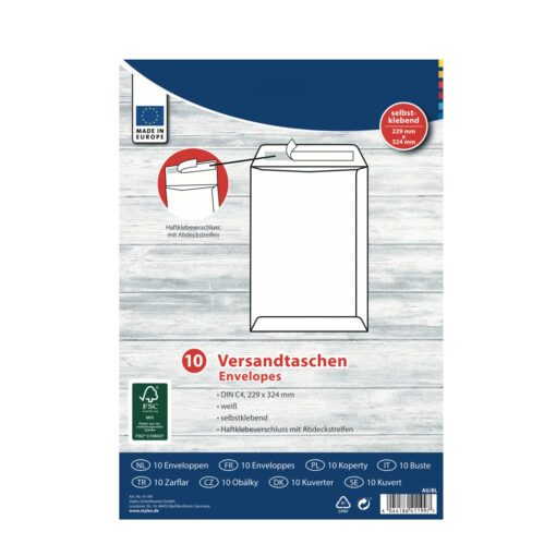 Sobres blancos autoadhesivos Folio SO41199-1