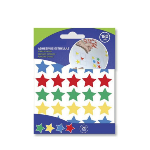 Blister etiquetas adhesivas estrellas ET327339