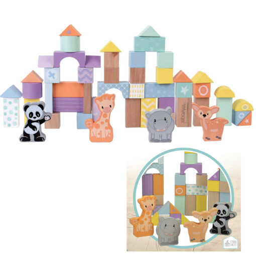 Cubo 50 bloques madera JU46458-1