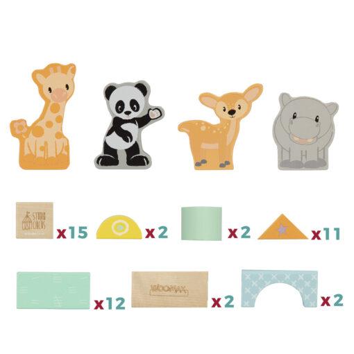 Cubo 50 bloques madera JU46458-2