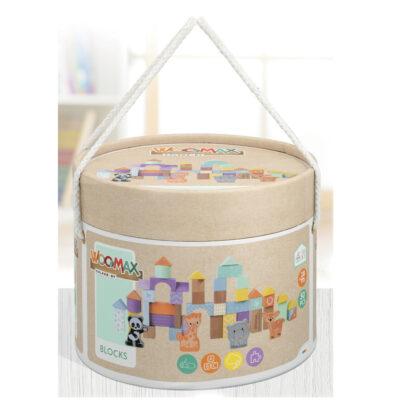 Cubo 50 bloques madera JU46458