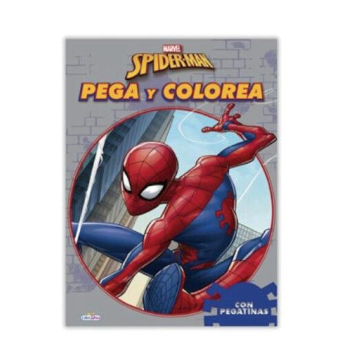 Cuadernos pega y colorea Spiderman CU396-1