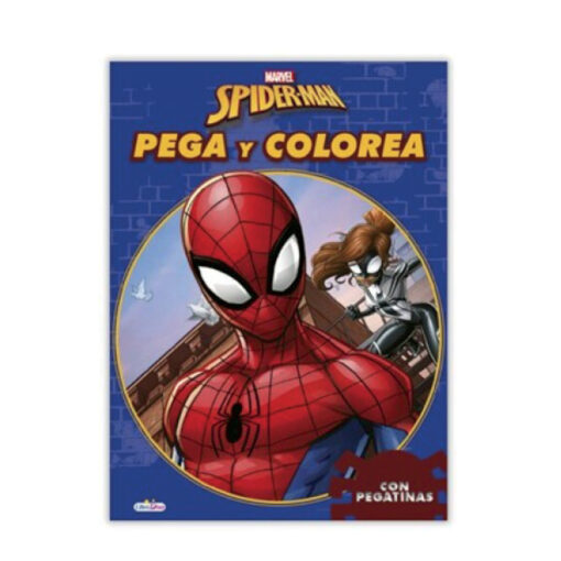 Cuadernos pega y colorea Spiderman CU396
