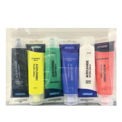 Lote tubos pintura acrilica LOTE90