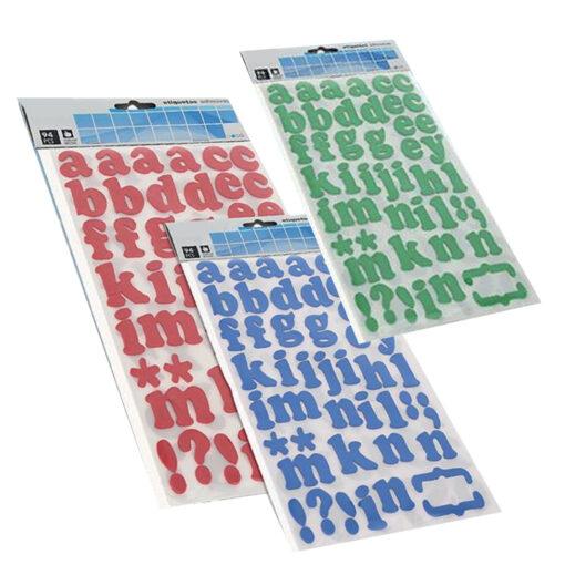 Blister etiquetas alfabeto ET73367