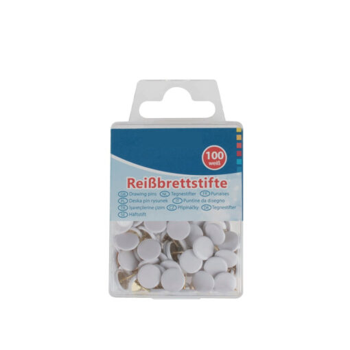Caja 100 chinchetas blancas CH24465