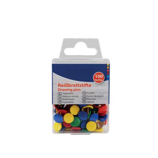 Caja 100 chinchetas colores CH24468