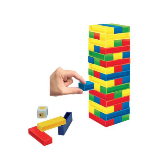 Juego torre bloques colores JU43752-1