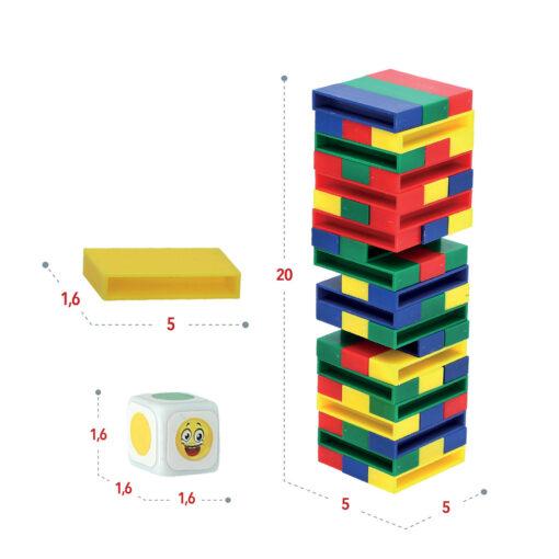 Juego torre bloques colores JU43752-2