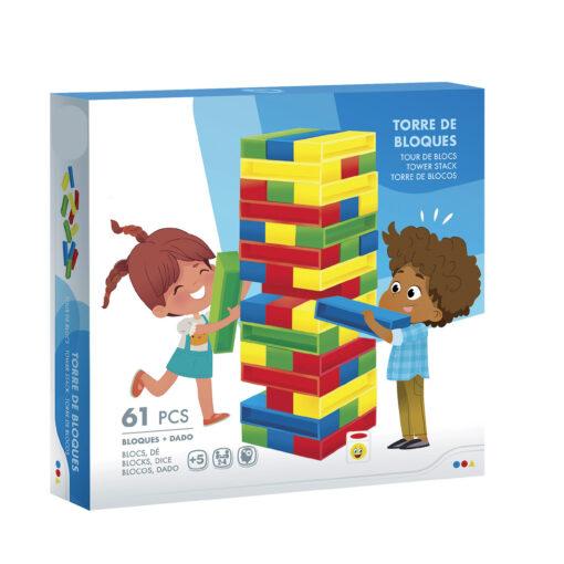 Juego torre bloques colores JU43752