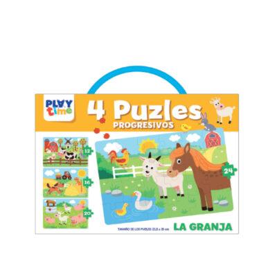 Maletin 4 puzles progresivos PZ4105