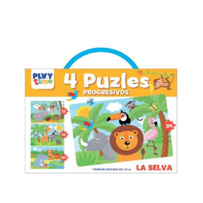 Maletin 4 puzles progresivos PZ4112