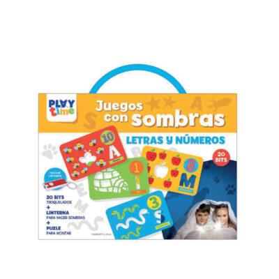 Maletin juegos con sombras letras y numeros JU4129