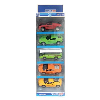 Caja 5 coches JU43384