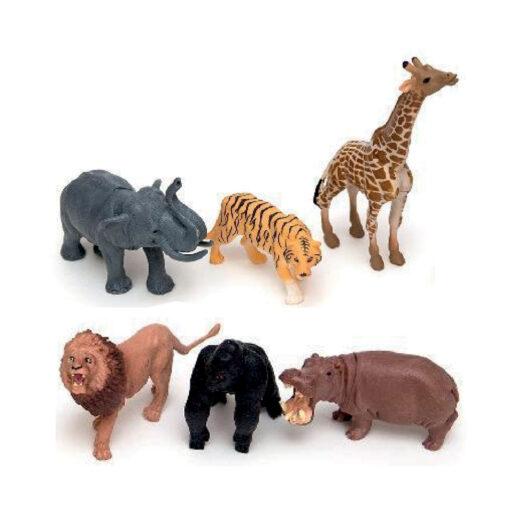 Caja 6 animales selva JU963-1