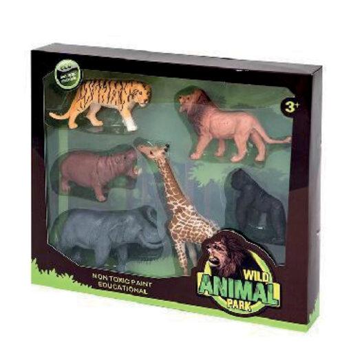 Caja 6 animales selva JU963