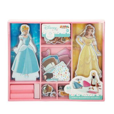 Juego vestidos madera magnetico Princesas JU48726